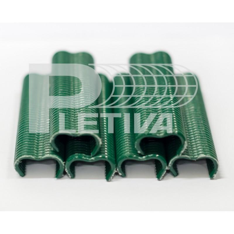 Spona PVC 200ks zelená