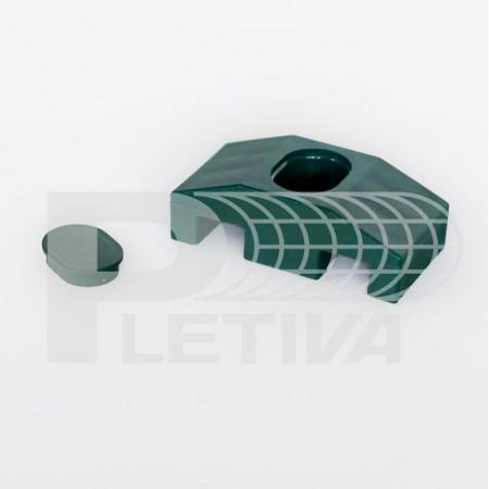 Příchytka 2D PVC zelená