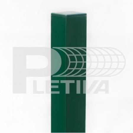 Sloupek jeklový 3D v2400 60x60 ZN/zelená