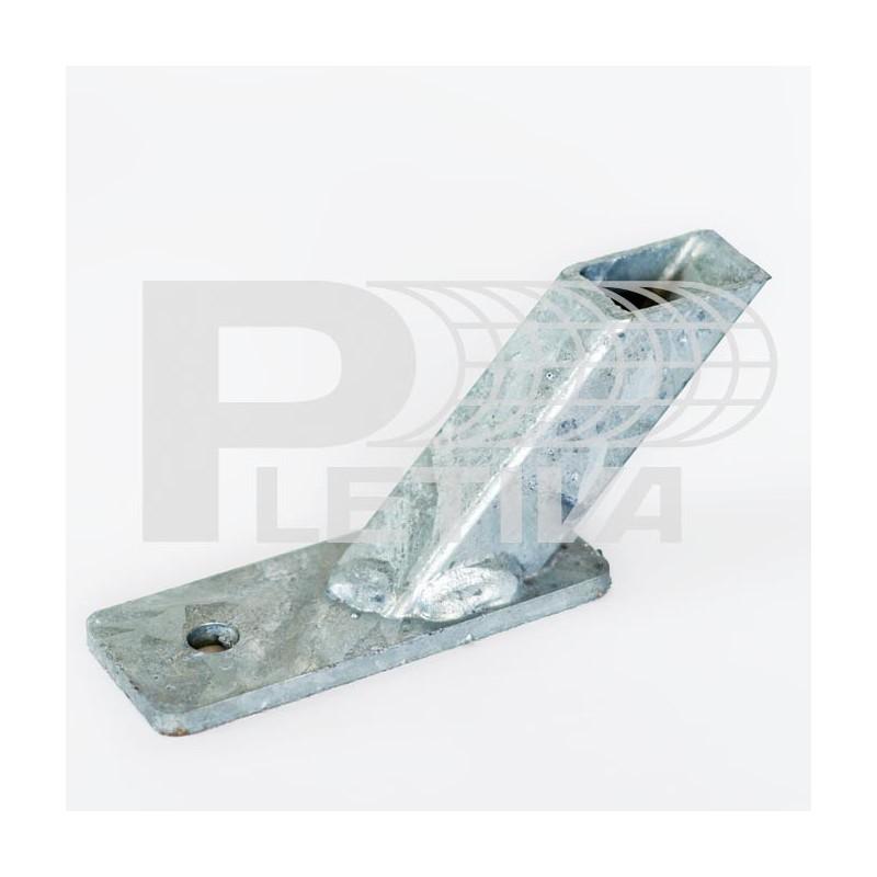 Patka Zn na beton 38mm na vzpěru