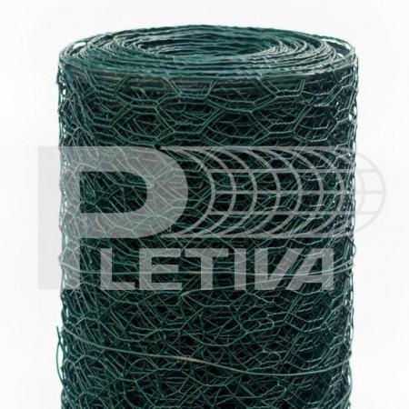 Králičí pletivo šestihranné ZN/PVC v500  Ø0.9 oko16 role 10m