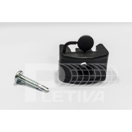 Příchytka 2D/3D PVC na kulatý sloupek černá