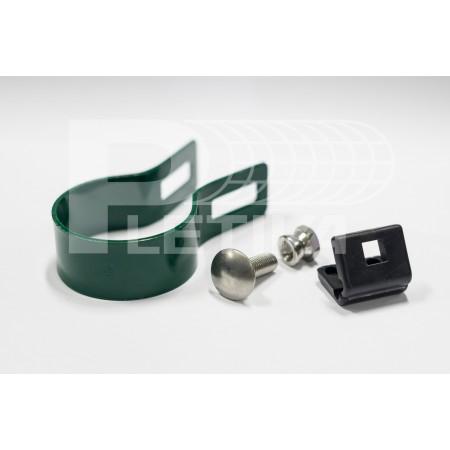 Objímka koncová Ø48 pro panel 3D ZN/zelená