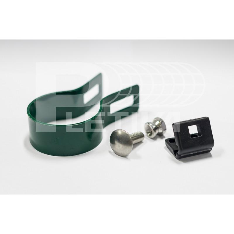 Objímka 48 koncová pro panel 3D ZN/zelená