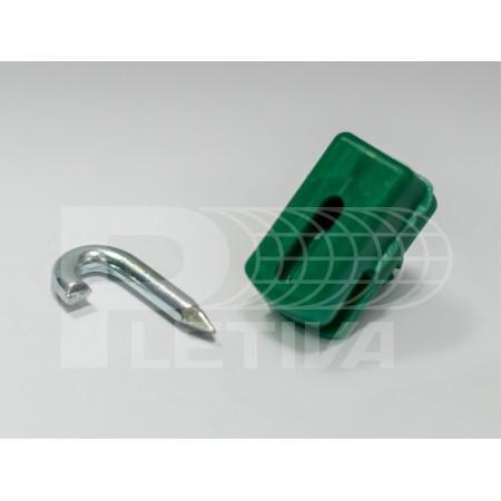 Držák ND PVC zelený skoba