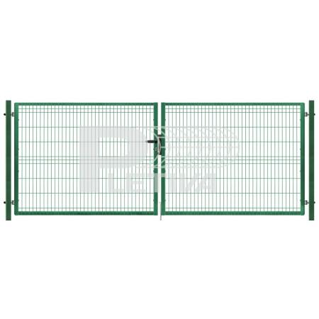 Brána 3D v1230 x š3500 ZN/zelená