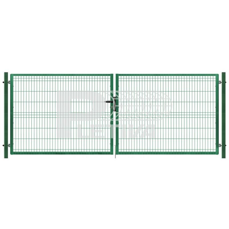 Brána 3D 3500x2030 ZN/zelená