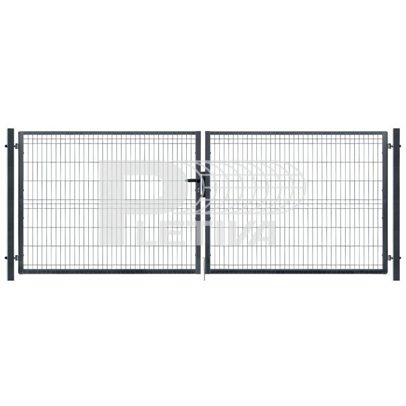 Brána 3D 3500x1230 ZN/antracit
